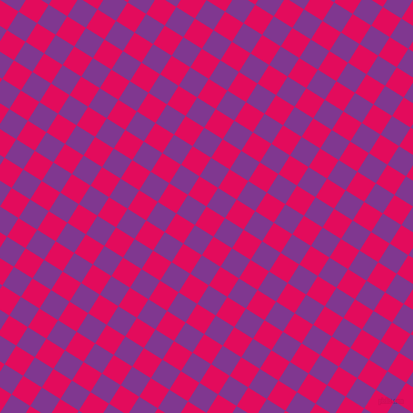 58/148 degree angle diagonal checkered chequered squares checker pattern checkers background, 31 pixel squares size, , Razzmatazz and Vivid Violet checkers chequered checkered squares seamless tileable