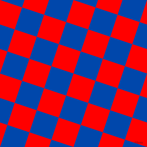 72/162 degree angle diagonal checkered chequered squares checker pattern checkers background, 95 pixel square size, , Red and Cobalt checkers chequered checkered squares seamless tileable