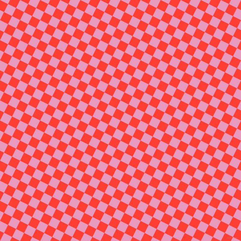 63/153 degree angle diagonal checkered chequered squares checker pattern checkers background, 30 pixel squares size, , Red Orange and Shocking checkers chequered checkered squares seamless tileable