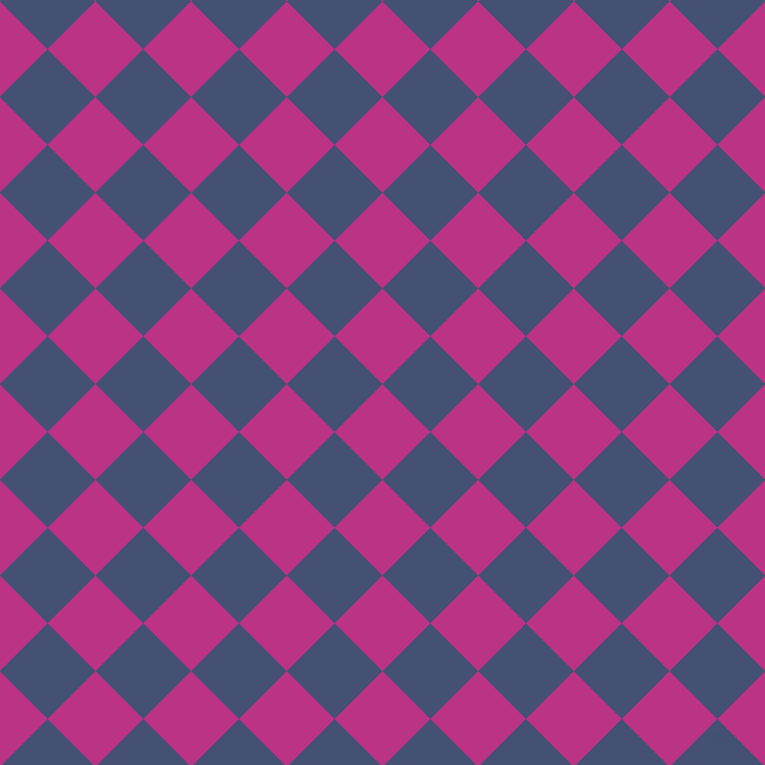 45/135 degree angle diagonal checkered chequered squares checker pattern checkers background, 62 pixel squares size, , Red Violet and Astronaut checkers chequered checkered squares seamless tileable