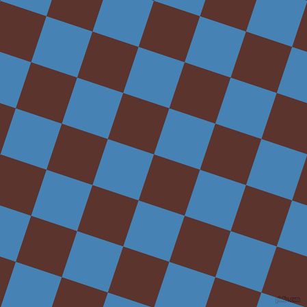 72/162 degree angle diagonal checkered chequered squares checker pattern checkers background, 71 pixel squares size, , Redwood and Steel Blue checkers chequered checkered squares seamless tileable
