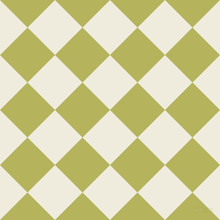45/135 degree angle diagonal checkered chequered squares checker pattern checkers background, 79 pixel square size, , Rice Cake and Olive Green checkers chequered checkered squares seamless tileable