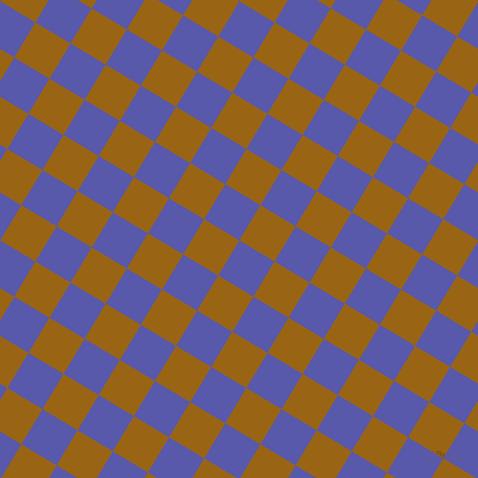 59/149 degree angle diagonal checkered chequered squares checker pattern checkers background, 41 pixel square size, , Rich Blue and Golden Brown checkers chequered checkered squares seamless tileable