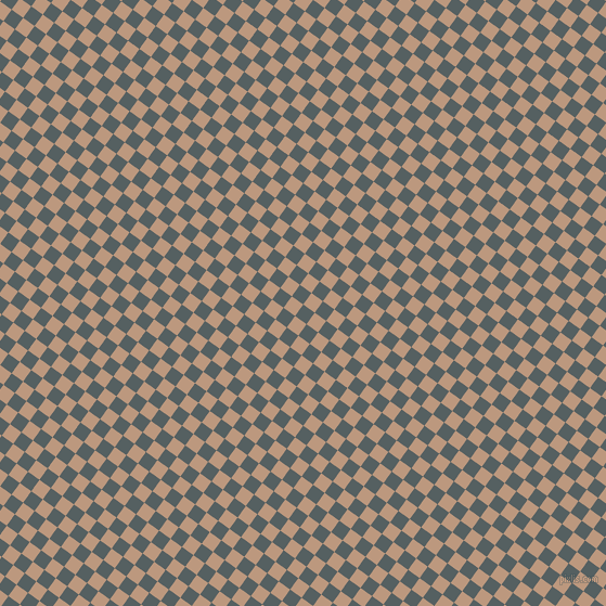 54/144 degree angle diagonal checkered chequered squares checker pattern checkers background, 13 pixel square size, , River Bed and Pale Taupe checkers chequered checkered squares seamless tileable