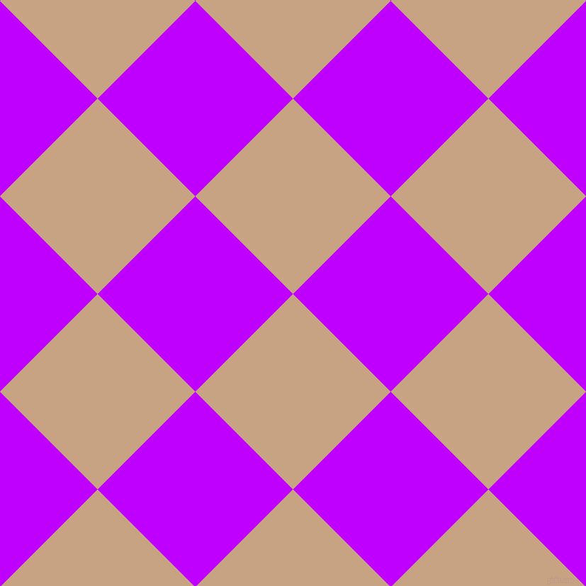 45/135 degree angle diagonal checkered chequered squares checker pattern checkers background, 195 pixel square size, , Rodeo Dust and Electric Purple checkers chequered checkered squares seamless tileable