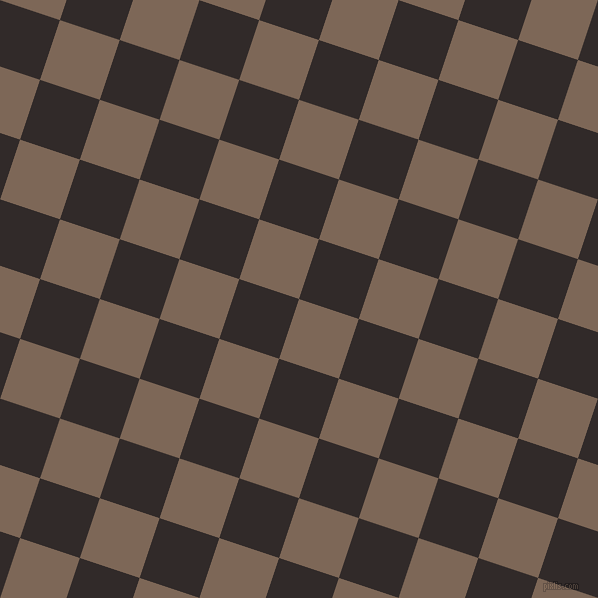 72/162 degree angle diagonal checkered chequered squares checker pattern checkers background, 63 pixel square size, , Roman Coffee and Livid Brown checkers chequered checkered squares seamless tileable