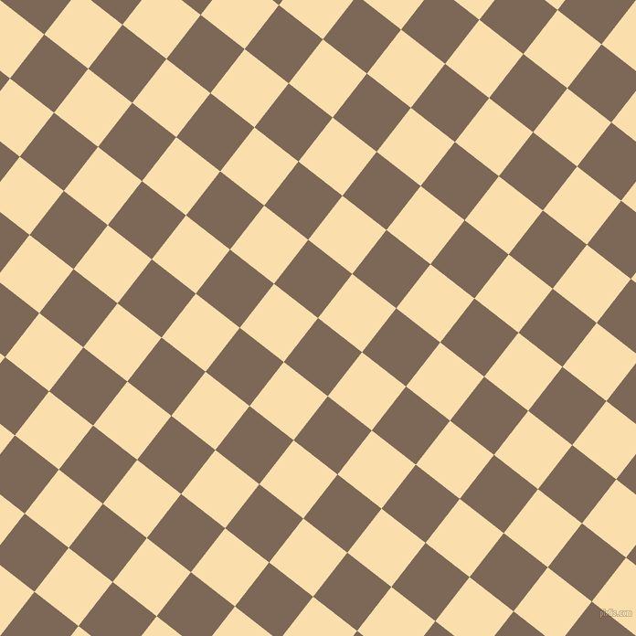 52/142 degree angle diagonal checkered chequered squares checker pattern checkers background, 61 pixel square size, , Roman Coffee and Peach-Yellow checkers chequered checkered squares seamless tileable