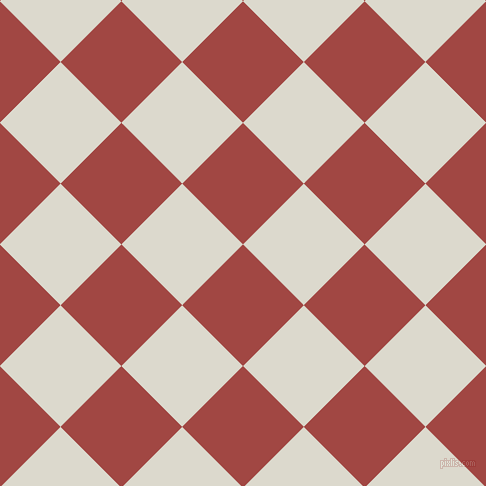 45/135 degree angle diagonal checkered chequered squares checker pattern checkers background, 86 pixel squares size, , Roof Terracotta and Milk White checkers chequered checkered squares seamless tileable