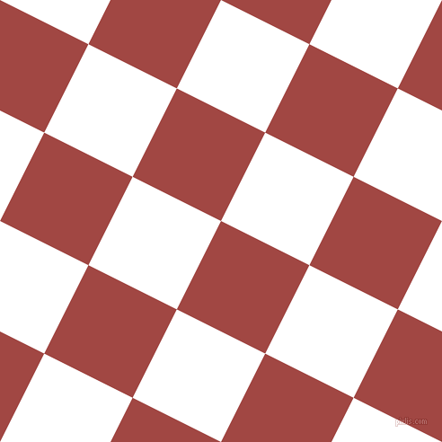 63/153 degree angle diagonal checkered chequered squares checker pattern checkers background, 110 pixel square size, , Roof Terracotta and White checkers chequered checkered squares seamless tileable