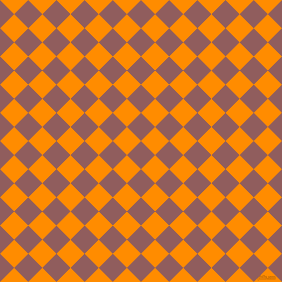 45/135 degree angle diagonal checkered chequered squares checker pattern checkers background, 40 pixel squares size, , Rose Taupe and Dark Orange checkers chequered checkered squares seamless tileable