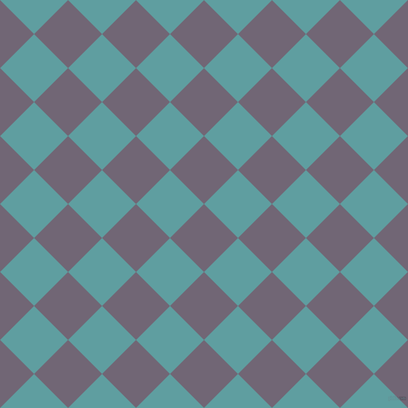 45/135 degree angle diagonal checkered chequered squares checker pattern checkers background, 98 pixel square size, , Rum and Cadet Blue checkers chequered checkered squares seamless tileable