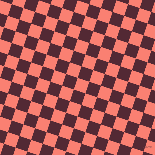 72/162 degree angle diagonal checkered chequered squares checker pattern checkers background, 42 pixel square size, , Salmon and Black Rose checkers chequered checkered squares seamless tileable