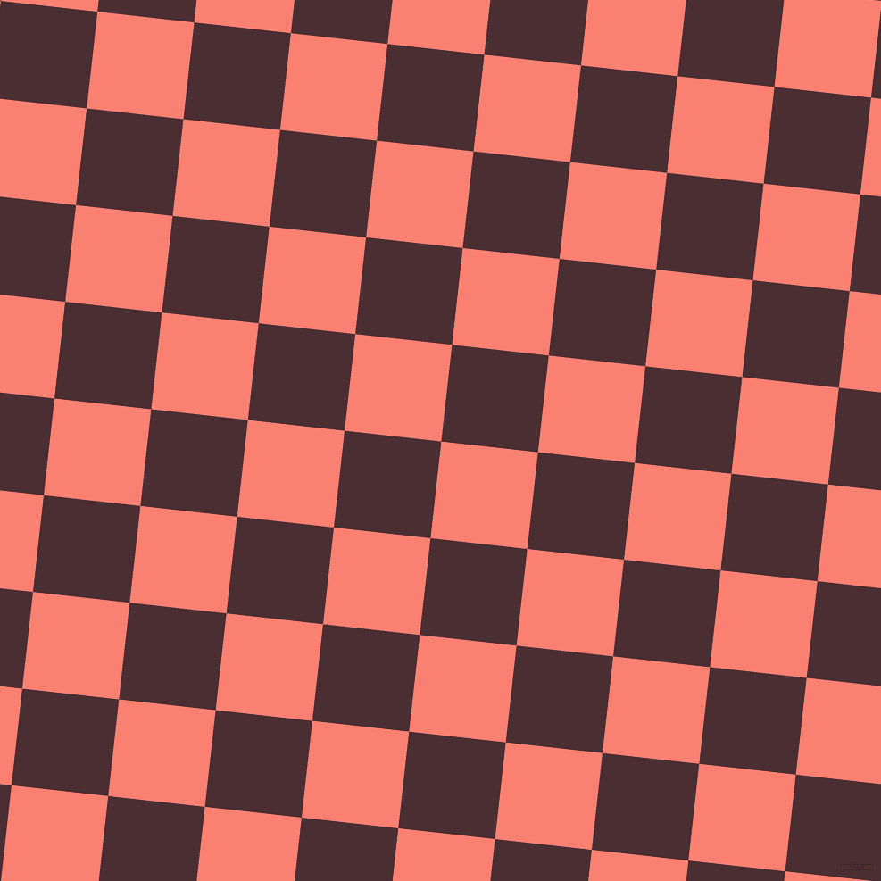 84/174 degree angle diagonal checkered chequered squares checker pattern checkers background, 109 pixel squares size, , Salmon and Cab Sav checkers chequered checkered squares seamless tileable