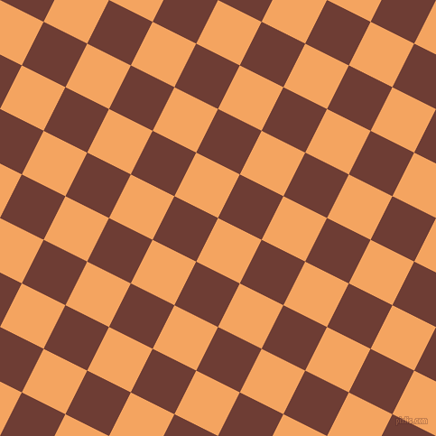 63/153 degree angle diagonal checkered chequered squares checker pattern checkers background, 54 pixel squares size, , Sandy Brown and Metallic Copper checkers chequered checkered squares seamless tileable