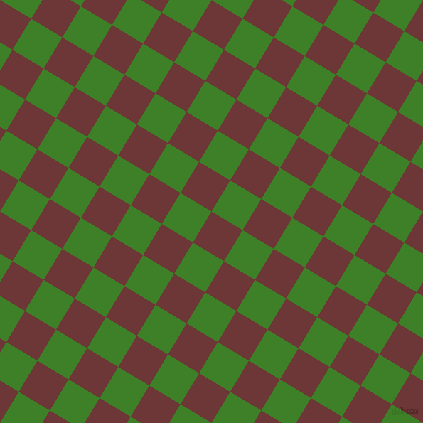 59/149 degree angle diagonal checkered chequered squares checker pattern checkers background, 51 pixel square size, Sanguine Brown and Bilbao checkers chequered checkered squares seamless tileable