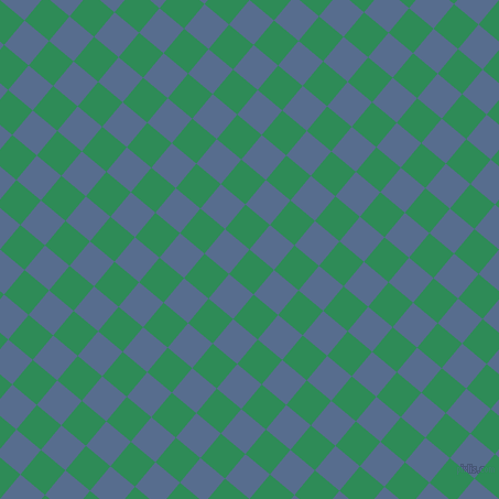 50/140 degree angle diagonal checkered chequered squares checker pattern checkers background, 29 pixel squares size, , Sea Green and Kashmir Blue checkers chequered checkered squares seamless tileable