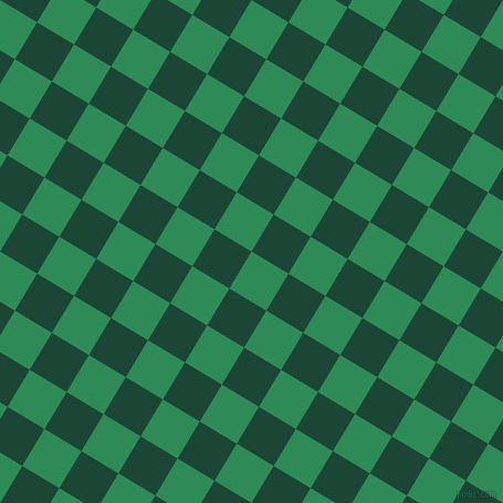 59/149 degree angle diagonal checkered chequered squares checker pattern checkers background, 39 pixel square size, , Sea Green and Sherwood Green checkers chequered checkered squares seamless tileable