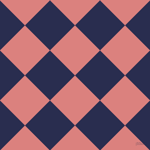 45/135 degree angle diagonal checkered chequered squares checker pattern checkers background, 117 pixel square size, , Sea Pink and Lucky Point checkers chequered checkered squares seamless tileable