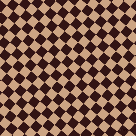 50/140 degree angle diagonal checkered chequered squares checker pattern checkers background, 29 pixel square size, , Seal Brown and Cameo checkers chequered checkered squares seamless tileable