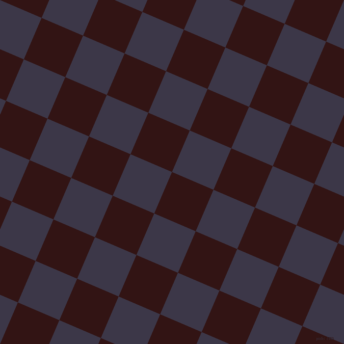 67/157 degree angle diagonal checkered chequered squares checker pattern checkers background, 92 pixel squares size, Seal Brown and Martinique checkers chequered checkered squares seamless tileable