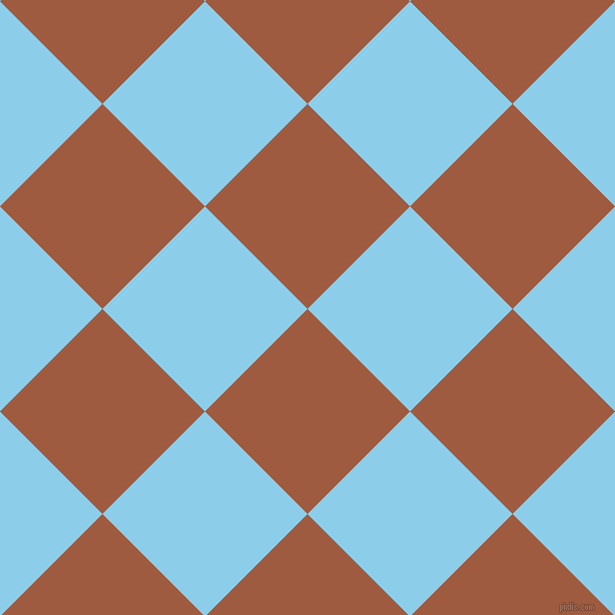 45/135 degree angle diagonal checkered chequered squares checker pattern checkers background, 145 pixel squares size, , Sepia and Anakiwa checkers chequered checkered squares seamless tileable