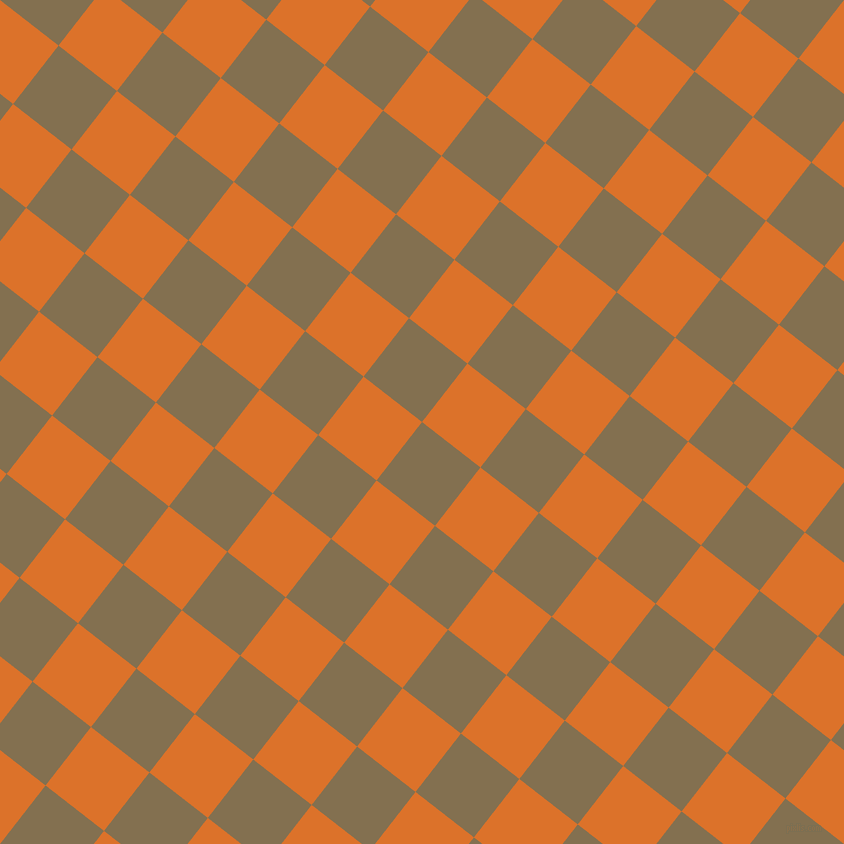52/142 degree angle diagonal checkered chequered squares checker pattern checkers background, 74 pixel square size, , Shadow and Tahiti Gold checkers chequered checkered squares seamless tileable