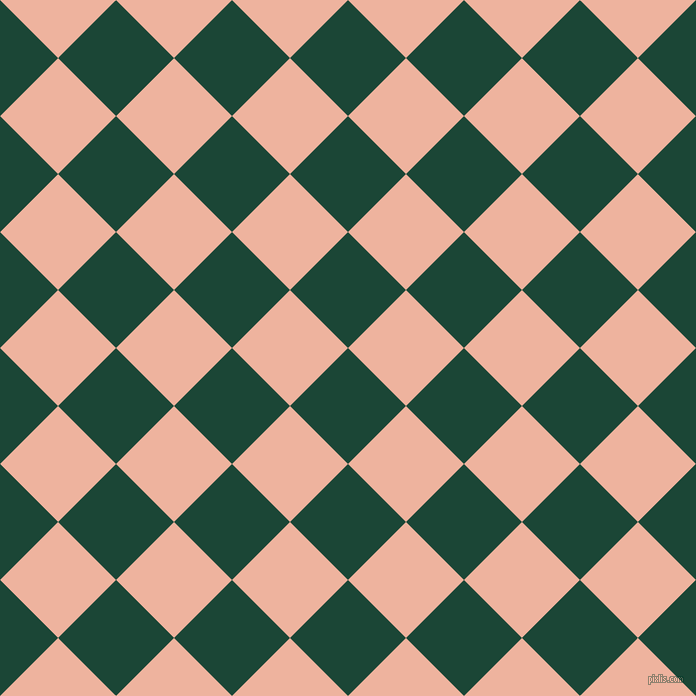 45/135 degree angle diagonal checkered chequered squares checker pattern checkers background, 82 pixel square size, , Sherwood Green and Wax Flower checkers chequered checkered squares seamless tileable