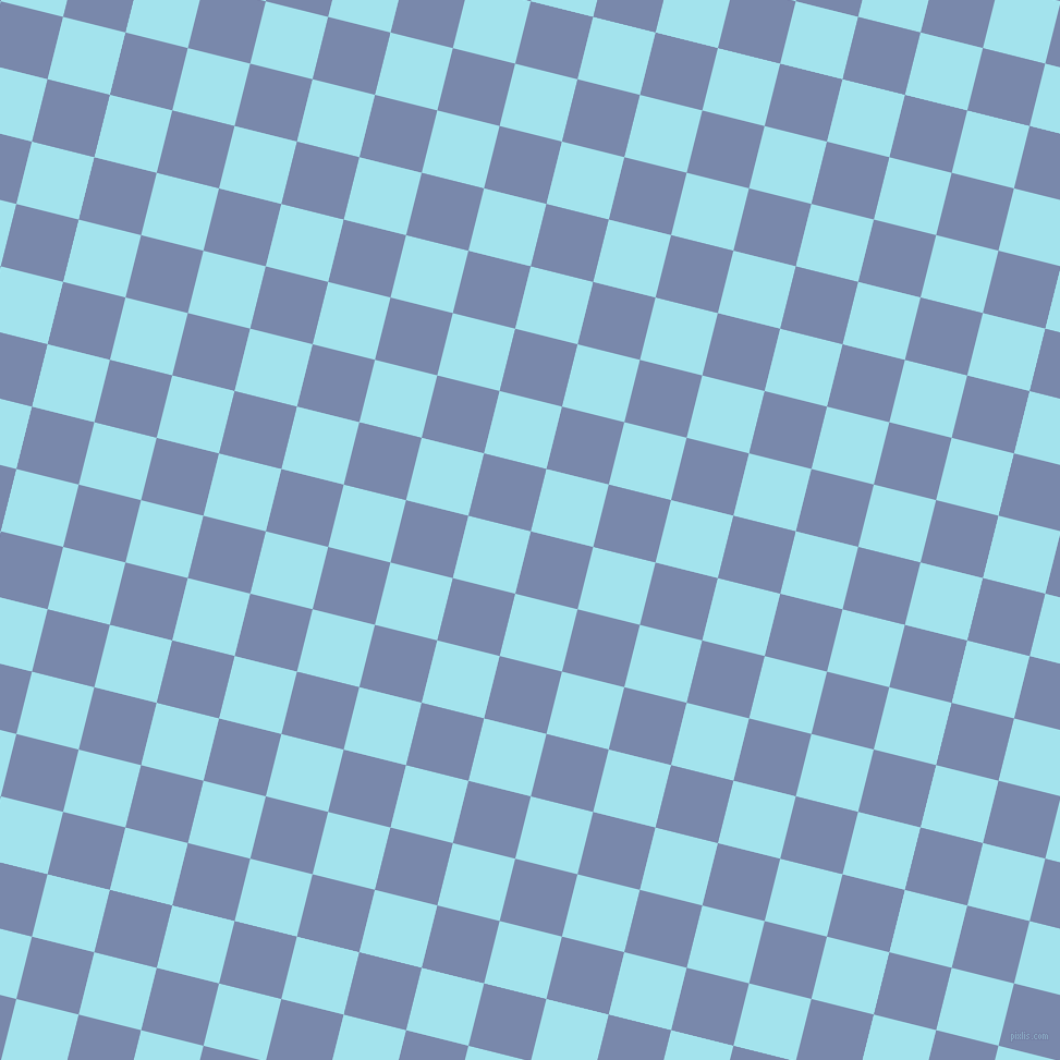 76/166 degree angle diagonal checkered chequered squares checker pattern checkers background, 59 pixel square size, , Ship Cove and Blizzard Blue checkers chequered checkered squares seamless tileable