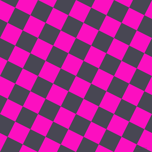 63/153 degree angle diagonal checkered chequered squares checker pattern checkers background, 55 pixel square size, , Shocking Pink and Gun Powder checkers chequered checkered squares seamless tileable