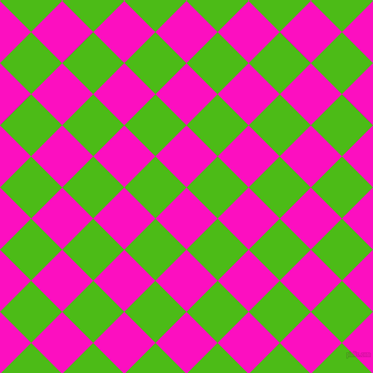 45/135 degree angle diagonal checkered chequered squares checker pattern checkers background, 64 pixel squares size, , Shocking Pink and Kelly Green checkers chequered checkered squares seamless tileable