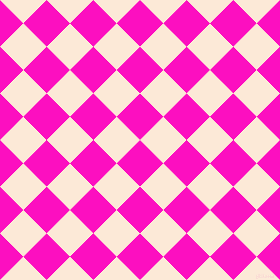45/135 degree angle diagonal checkered chequered squares checker pattern checkers background, 68 pixel squares size, , Shocking Pink and Serenade checkers chequered checkered squares seamless tileable