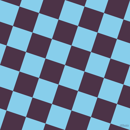 72/162 degree angle diagonal checkered chequered squares checker pattern checkers background, 83 pixel square size, , Sky Blue and Loulou checkers chequered checkered squares seamless tileable