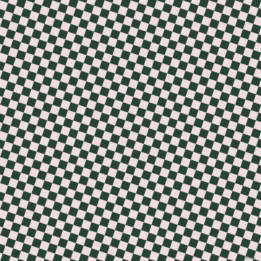 72/162 degree angle diagonal checkered chequered squares checker pattern checkers background, 29 pixel square size, Soft Peach and English Holly checkers chequered checkered squares seamless tileable