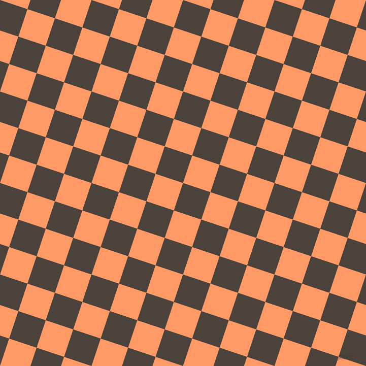 72/162 degree angle diagonal checkered chequered squares checker pattern checkers background, 57 pixel square size, , Space Shuttle and Atomic Tangerine checkers chequered checkered squares seamless tileable