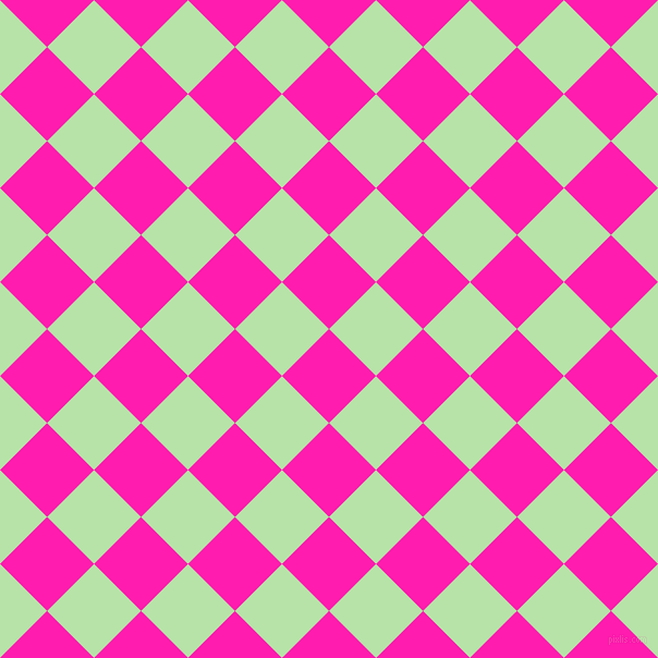 45/135 degree angle diagonal checkered chequered squares checker pattern checkers background, 61 pixel square size, , Spicy Pink and Madang checkers chequered checkered squares seamless tileable