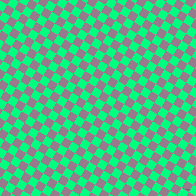 59/149 degree angle diagonal checkered chequered squares checker pattern checkers background, 28 pixel squares size, , Spring Green and Mountbatten Pink checkers chequered checkered squares seamless tileable