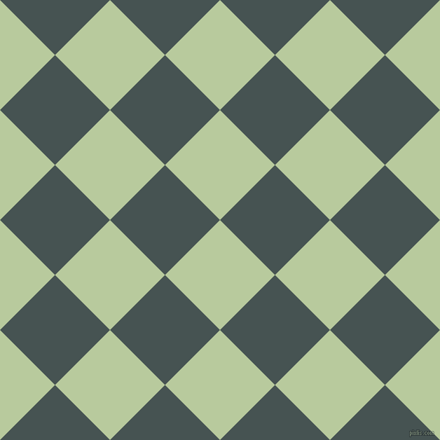 45/135 degree angle diagonal checkered chequered squares checker pattern checkers background, 111 pixel squares size, , Sprout and Dark Slate checkers chequered checkered squares seamless tileable