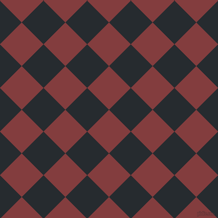 45/135 degree angle diagonal checkered chequered squares checker pattern checkers background, 62 pixel square size, Stiletto and Blue Charcoal checkers chequered checkered squares seamless tileable