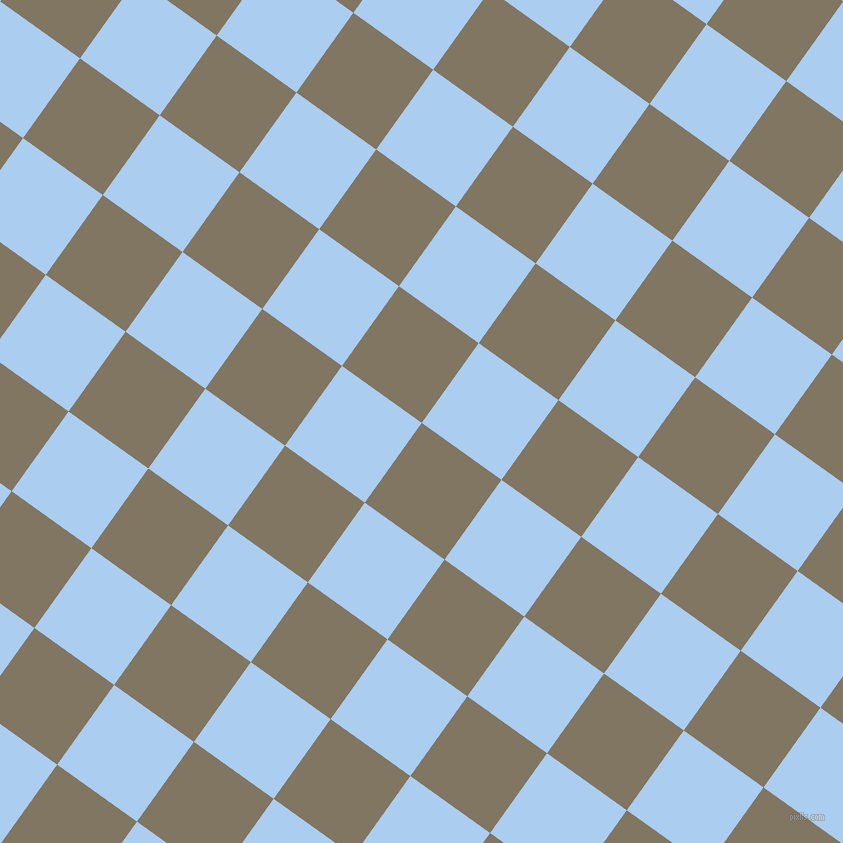 54/144 degree angle diagonal checkered chequered squares checker pattern checkers background, 98 pixel square size, , Stonewall and Pale Cornflower Blue checkers chequered checkered squares seamless tileable