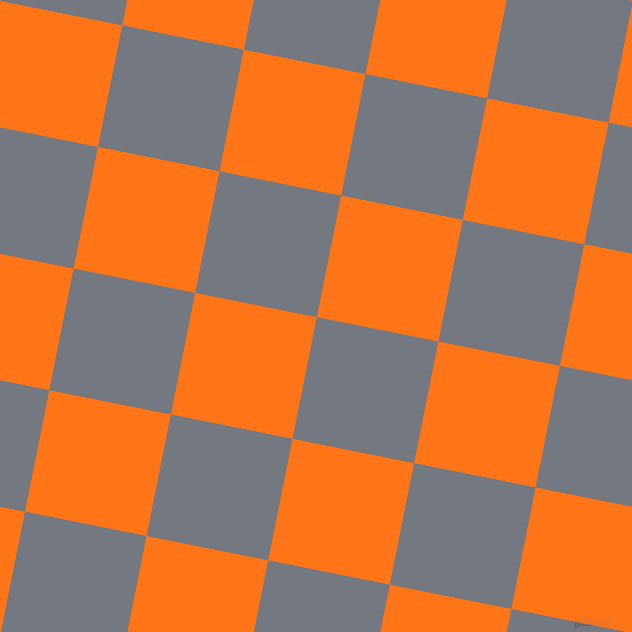 79/169 degree angle diagonal checkered chequered squares checker pattern checkers background, 124 pixel square size, , Storm Grey and Pumpkin checkers chequered checkered squares seamless tileable