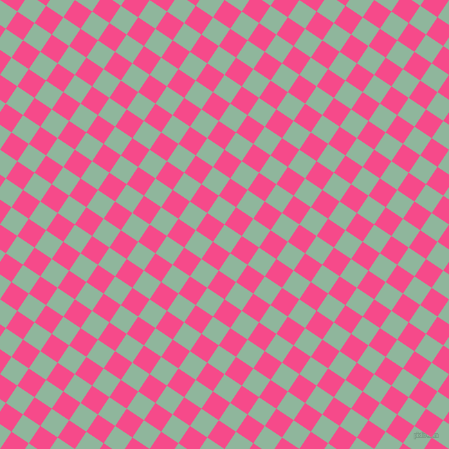 56/146 degree angle diagonal checkered chequered squares checker pattern checkers background, 30 pixel square size, , Summer Green and French Rose checkers chequered checkered squares seamless tileable