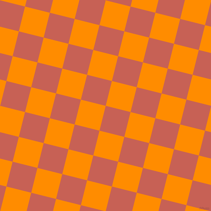 76/166 degree angle diagonal checkered chequered squares checker pattern checkers background, 90 pixel square size, , Sunglo and Dark Orange checkers chequered checkered squares seamless tileable
