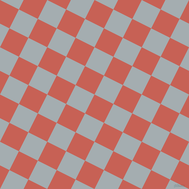63/153 degree angle diagonal checkered chequered squares checker pattern checkers background, 72 pixel squares size, , Sunglo and Gull Grey checkers chequered checkered squares seamless tileable