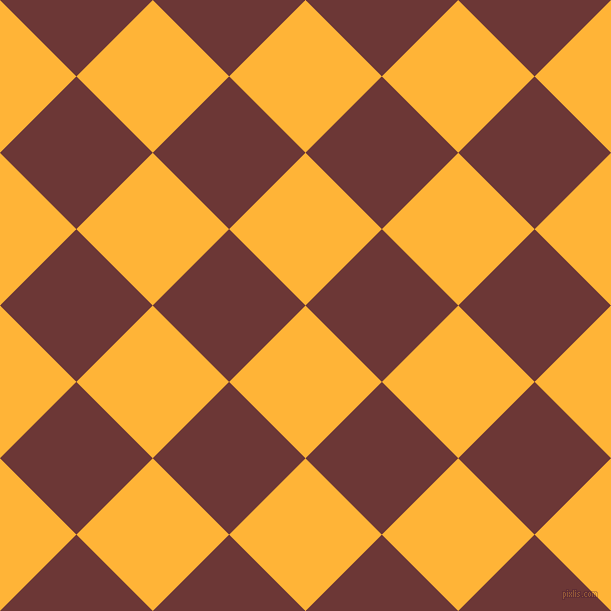 45/135 degree angle diagonal checkered chequered squares checker pattern checkers background, 108 pixel squares size, , Supernova and Sanguine Brown checkers chequered checkered squares seamless tileable