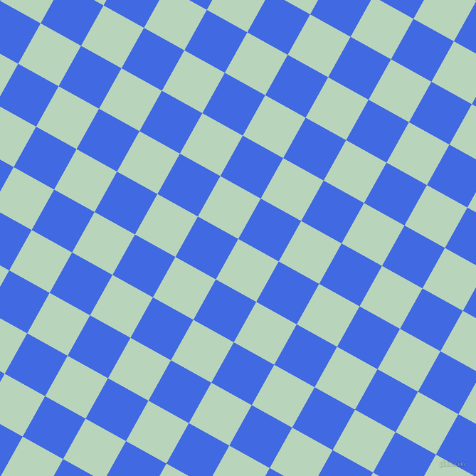 61/151 degree angle diagonal checkered chequered squares checker pattern checkers background, 65 pixel square size, , Surf and Royal Blue checkers chequered checkered squares seamless tileable
