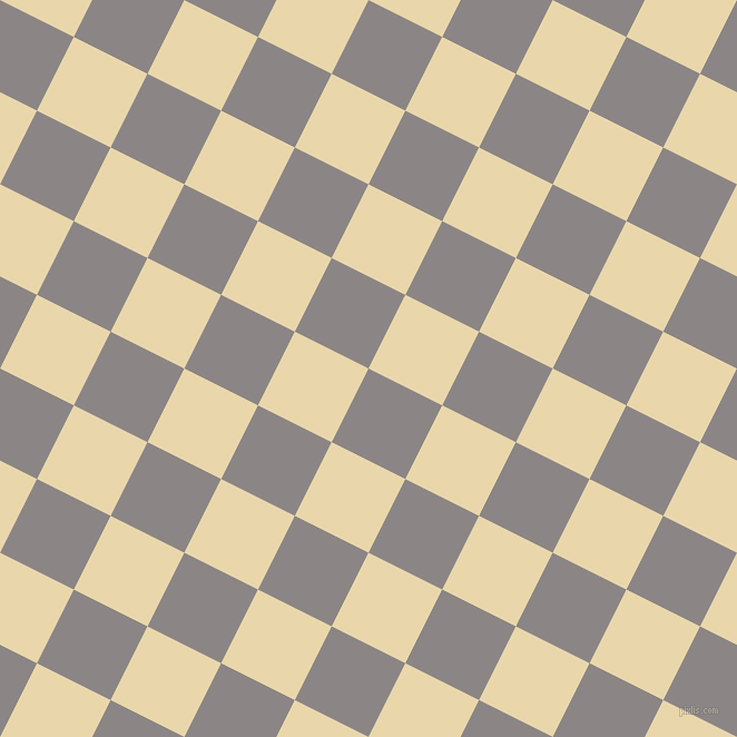 63/153 degree angle diagonal checkered chequered squares checker pattern checkers background, 74 pixel square size, , Suva Grey and Beeswax checkers chequered checkered squares seamless tileable