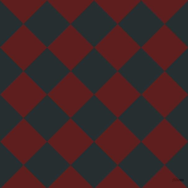 45/135 degree angle diagonal checkered chequered squares checker pattern checkers background, 107 pixel square size, , Swamp and Red Oxide checkers chequered checkered squares seamless tileable