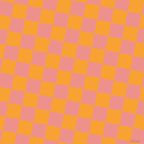 79/169 degree angle diagonal checkered chequered squares checker pattern checkers background, 47 pixel squares size, , Sweet Pink and Lightning Yellow checkers chequered checkered squares seamless tileable