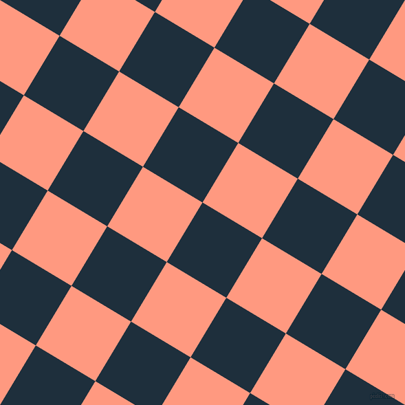 59/149 degree angle diagonal checkered chequered squares checker pattern checkers background, 101 pixel square size, , Tangaroa and Vivid Tangerine checkers chequered checkered squares seamless tileable