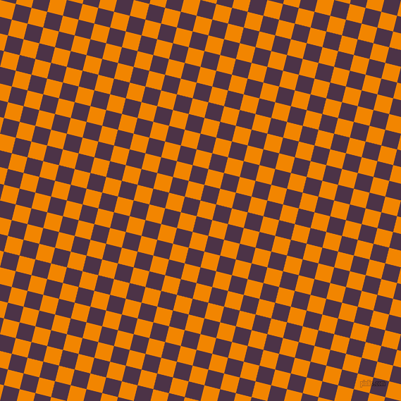 76/166 degree angle diagonal checkered chequered squares checker pattern checkers background, 23 pixel square size, , Tangerine and Loulou checkers chequered checkered squares seamless tileable